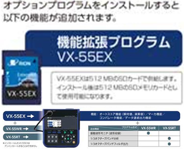 振動レベル計VM-55シリーズの機能拡張プログラムVX-55EX