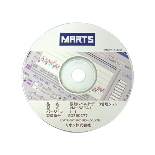 振動レベル計VM-53用管理ソフト VM-53PA1